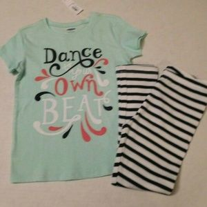 NWT 2pc Old Navy Dance to Your Beat Top & Leggings